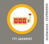 777 jackpot icon  vector casino ... | Shutterstock .eps vector #1519003544