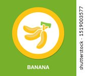vector banana icon  fruit... | Shutterstock .eps vector #1519003577