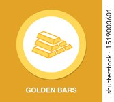 Stock vector gold bar icon golden bars money symbol 1519003601