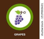 grapes icon  vector fruit... | Shutterstock .eps vector #1519003631