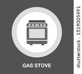 stove oven icon  vector gas...   Shutterstock .eps vector #1519005491