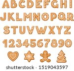 set of cookies in the form of... | Shutterstock .eps vector #1519043597