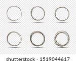 set of hand drawn circles ... | Shutterstock .eps vector #1519044617