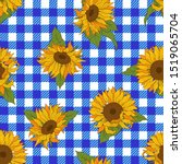 bright sunflowers on a... | Shutterstock .eps vector #1519065704