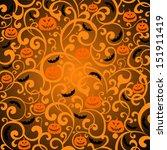 halloween background. vector... | Shutterstock .eps vector #151911419