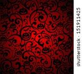halloween background. vector... | Shutterstock .eps vector #151911425