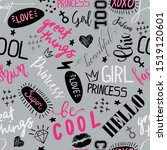 girls seamless pattern with... | Shutterstock .eps vector #1519120601