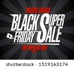 black friday super sale ... | Shutterstock .eps vector #1519163174