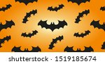 halloween banner background.... | Shutterstock .eps vector #1519185674