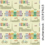 paris with love pattern | Shutterstock .eps vector #151919615