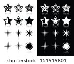 Stars Icons With Shadow On...