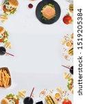 fast food  unhealthy food top...   Shutterstock . vector #1519205384