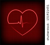 vector heart rhythm | Shutterstock .eps vector #151921451