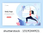 daily yoga concept illustration ... | Shutterstock .eps vector #1519244921