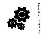 gear simple vector icon...