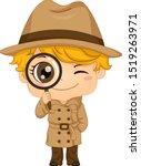 illustration of a kid boy... | Shutterstock .eps vector #1519263971