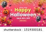 horizontal happy halloween... | Shutterstock .eps vector #1519300181