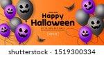 happy halloween sale banner... | Shutterstock .eps vector #1519300334