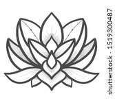 filigree lotus flower  black... | Shutterstock .eps vector #1519300487