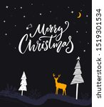 merry christmas greeting card....   Shutterstock .eps vector #1519301534