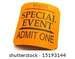 Special event ticket closeup ...
