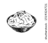 mashed potato hand drawn vector ... | Shutterstock .eps vector #1519324721