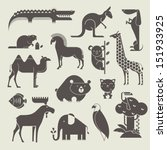 vector animals set | Shutterstock .eps vector #151933925