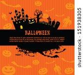 halloween vector background... | Shutterstock .eps vector #151938305