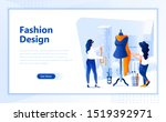 fashion design flat web page...