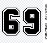 number 69 vector isolated design illustration for template