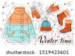 color vector hand drawn...   Shutterstock .eps vector #1519423601