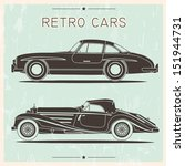 silhouette of vintage cars | Shutterstock .eps vector #151944731