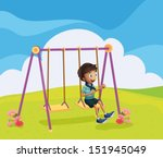 illustration of a young boy... | Shutterstock .eps vector #151945049