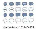 simple speech bubble chat talk...   Shutterstock .eps vector #1519466954