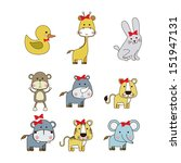 animals icons over white... | Shutterstock .eps vector #151947131