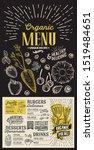 organic menu template for... | Shutterstock .eps vector #1519484651
