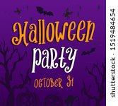 halloween party background for...   Shutterstock .eps vector #1519484654