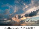evening sky with dramatic... | Shutterstock . vector #151949027