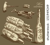 vector wine set | Shutterstock .eps vector #151949249