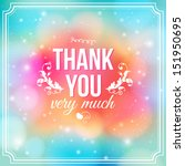 Thank You Card On Soft Colorfu...