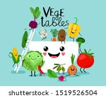 vegetables salad diet. fresh... | Shutterstock . vector #1519526504