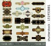 art nouveau label banner set | Shutterstock .eps vector #151953881