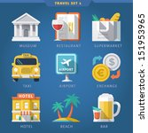 travel icon set 1 | Shutterstock .eps vector #151953965