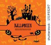 halloween vector background... | Shutterstock .eps vector #151955297