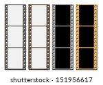 blank films negative | Shutterstock .eps vector #151956617