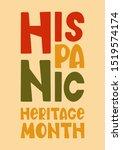 national hispanic heritage...   Shutterstock .eps vector #1519574174