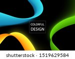 abstract colorful moving... | Shutterstock .eps vector #1519629584