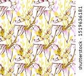line art wildflower for fabric...   Shutterstock .eps vector #1519636181