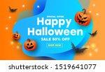 creative happy halloween sale...   Shutterstock .eps vector #1519641077