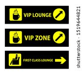 first class  vip lounge or vip... | Shutterstock .eps vector #1519644821